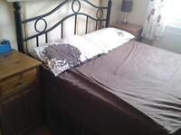 Dbl Metal Bed Frame, Headboard And Mattress