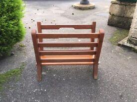 Magazine rack - wooden