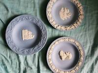 3 small Wedgwood plates