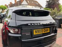 Two Tone Black and Silver Land Rover Range Rover Evoque 2.2 SD4 5 Door Registered in July 2014