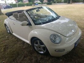 Gorgeous VW Beetle Convertible 1.9TDi Beige with Beige full leather interior
