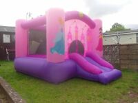 bouncy castle with slide - compliments little tikes toys