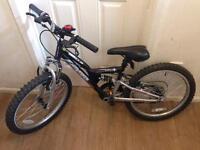 "Boys bike 20"" in black, hardly used"