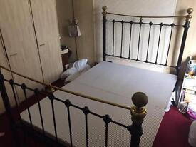 Antique 4 poster cast iron double bed