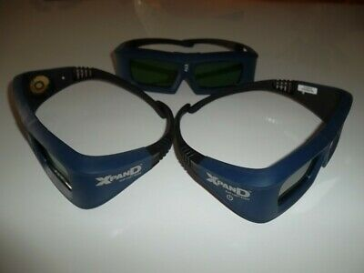 THREE UNIT XPAND X-102 3D GLASSES with DLP LINK