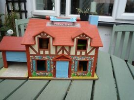 Fisher Price pre school playhouse, little people, furniture, accessories all VGC £20