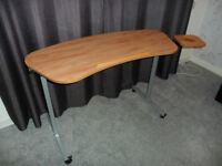 Height Adjustable and Tilting Over Armchair Table or Desk