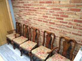 Urgent 6 chairs for sale