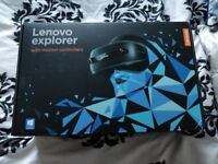 Lenovo explorer VR headset and controllers