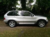 BMW X5 , V8 4.4l petrol 5 , Silver exterior , good all round condition