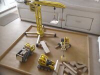 Pintoy wooden construction vehicle set