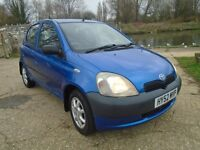 Toyota Yaris 1.0 5 door hatchback in blue Low mileage COMES WITH NEW MOT!!