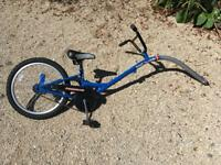 Bike trail attachment for children
