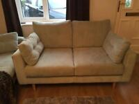 Duck egg two seater sofa