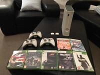 BARGAIN Xbox360 Bundle.7 games, 3 controllers, 4GB memory card