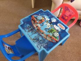 Kids 2 chairs table set paw patrol peppa thomas