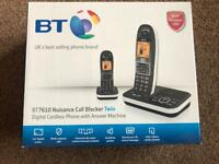 BT 7610 Digital cordless phone (twin) with answer machine Brand New boxed