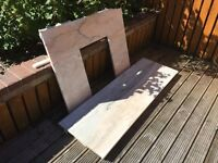 Quality Marble Hearth & back piece