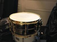 Brass snare drum