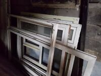 FREE - PVC Doors and Windows (Variety of sizes) great for allotments or sheds etc