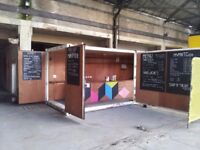 POP-UP CAFE/CONVERTED SHIPPING CONTAINER - REDUCED FOR QUICK SALE!