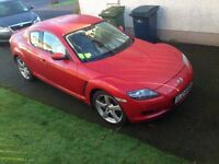 Immaculate Red Mazda RX8 for sale.