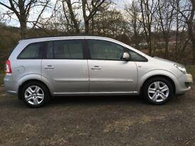 2013 Vauxhall zafira 1.6 petrol fsh 46,700 Miles 1 year mot