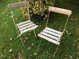 Rustic outdoor patio chairs antique