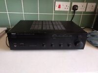 Yamaha stereo Amplifier, really nice sound, has both phono and aux input.
