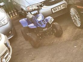 100cc kids quad spang blue