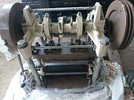 Hanbury Autogil Press Model 133 Roll Feed Vintage Antique Paper Confetti Cutter