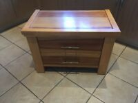Two piece chest of drawers