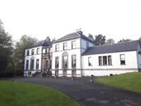 2 Bedroom, furnished flat in B listed mansion house in Rhu