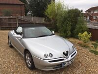 Alfa Romeo spider in silver. Lovely condition