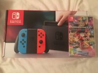BRAND NEW NINTENDO SWITCH GAMES CONSOLE & MARIO KART 8 DELUXE