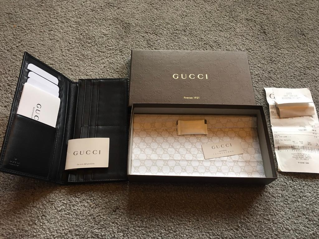278cf3f928b61d Men's gucci original genuine cards wallet leather black i have original  receipt £70