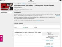 Robbie Williams seated concert tickets - Friday 23rd June - Queen Elizabeth Olympic Park, London