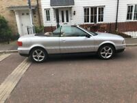 STUNNING AUDI CABRIOLET 2.6 , LEATHER SEATS. ., ELECTRIC ROOF, LONG MOT.