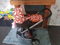 Cosatto pram - full travel system including car seat