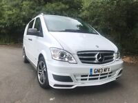 Mercedes Vito, 2013, 13-reg, Sport X, Brabus, 3.0 V6, Dualiner, Lwb, 5 Seater, Part Camper From New.