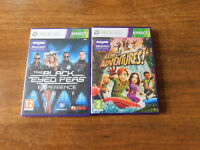 XBOX 360 KINECT The Black Eyed Peas Experience & KINECT Adventures-FREE Postage