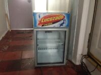 Lucozade table top fridge with light