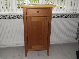 Pine cupboard - one drawer, one shelf inside.in good condition