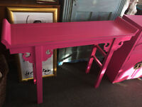 Gorgeous Nanjing Chinese Style Console Table Aged Pink