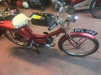 Vintage raleigh runabout RM6 1969 motorbike