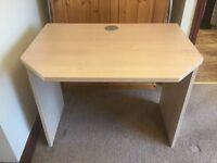 Desk, light wood effect
