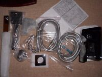 BRAND NEW Chrome Rainfall Shower head Arm Set