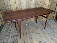 Danish era SOLID afromosia teak dining table mid century modern retro gplanera