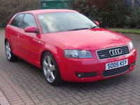 AUDI A3 2.0 T FSI QUATTRO S LINE 3d 197 BHP *FULL SERVICE RECORDS (8 STAMPS)++
