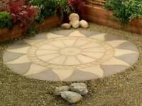 Aztec sun circle slab feature